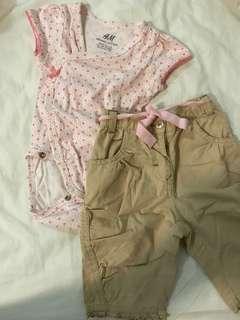 1 set h&m baby clothes