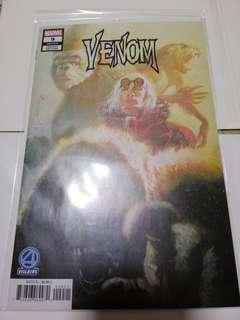 Venom 9 bill Sienkiewicz fantastic four villains variant