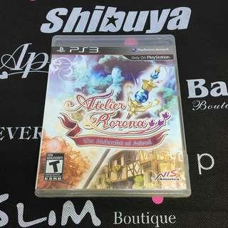 PS3 Game Atelier Rorona: The Alchemist of Arland