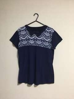 Blue Collar Tee Top