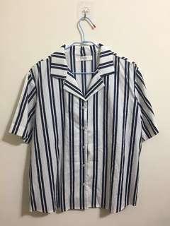 🚚 全新藍白條紋襯衫 #十二月女裝半價