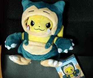 Pokemon Center Japan - Pikachu in Snorlax Suit