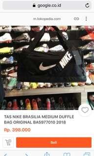 New Brasilia Medium Duffle Bag (tas gym NIKE) ori