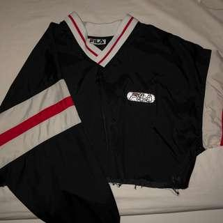 Fila cropped windbreaker sweater