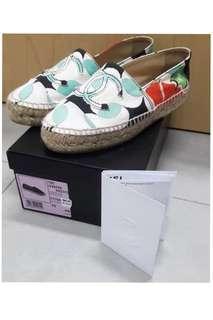 AUTHENTIC CHANEL Espadrilles Shoes size 35 - with receipt