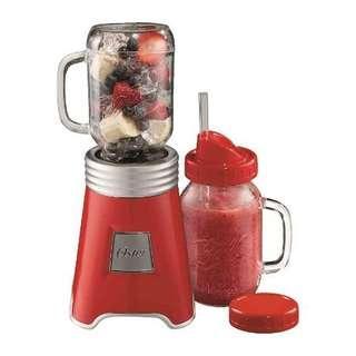 BNIB Oster Mason Jar Blender (red)