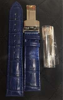 20mm Blue Leather Strap Unworn