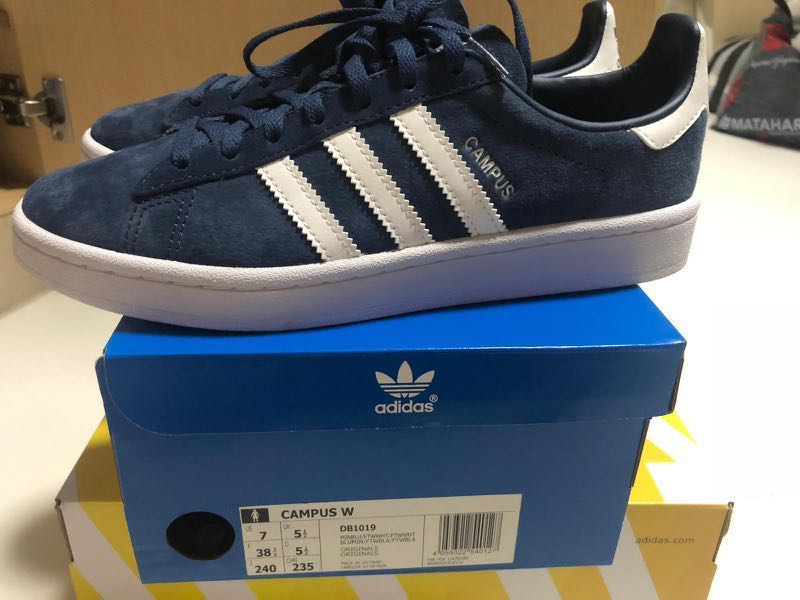 new product df520 f292d Adidas originals campus navy blue, Women s Fashion, Shoes, Sneakers on  Carousell