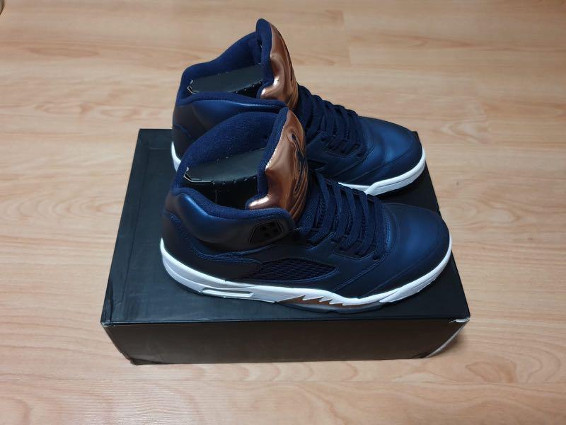 a4a407b3cb4 Air Jordan 5 bronze royal blue us8.5, Men's Fashion, Footwear ...