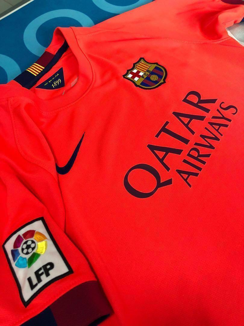 649fa15e500 Authentic Barcelona 2014/15 Away Jersey Boys L, Sports, Sports ...