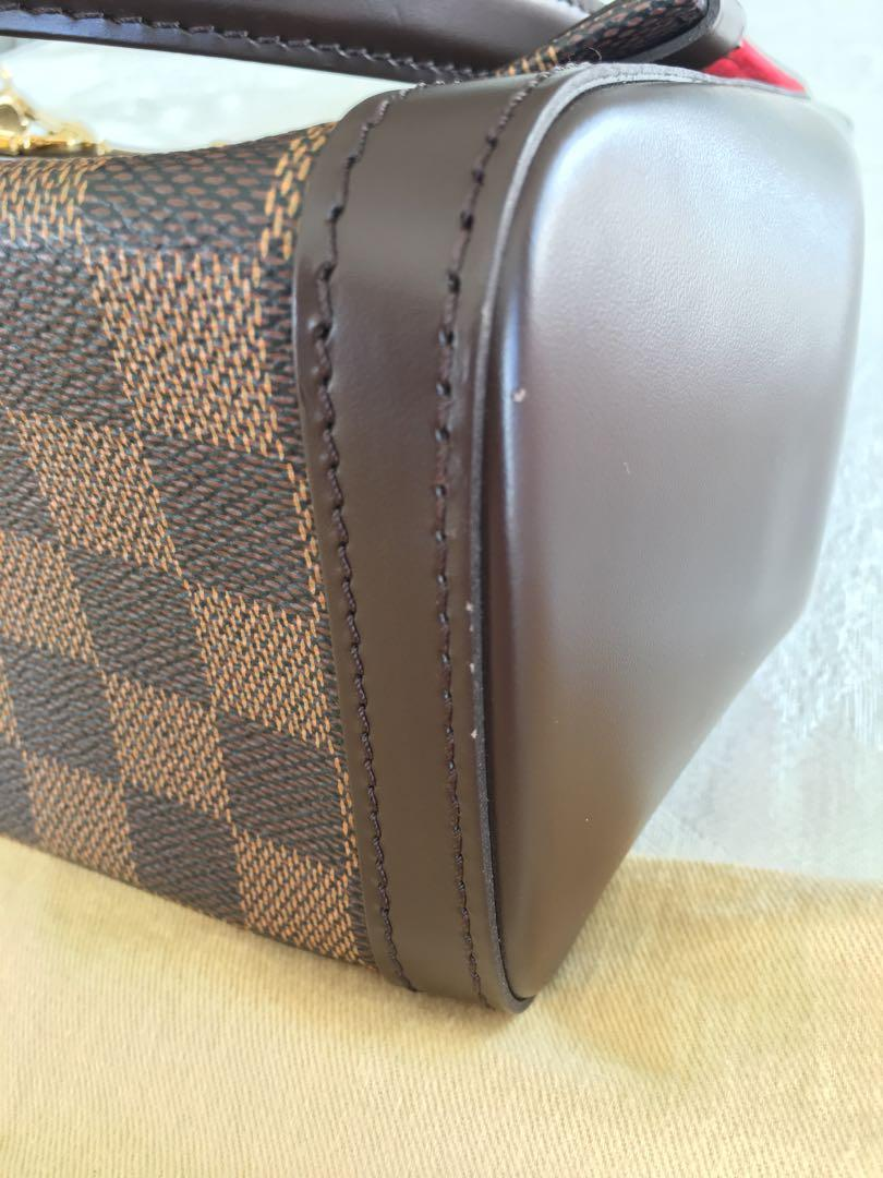 Authentic Louis Vuitton shoulder purse Damier Ebene Venice RARE new