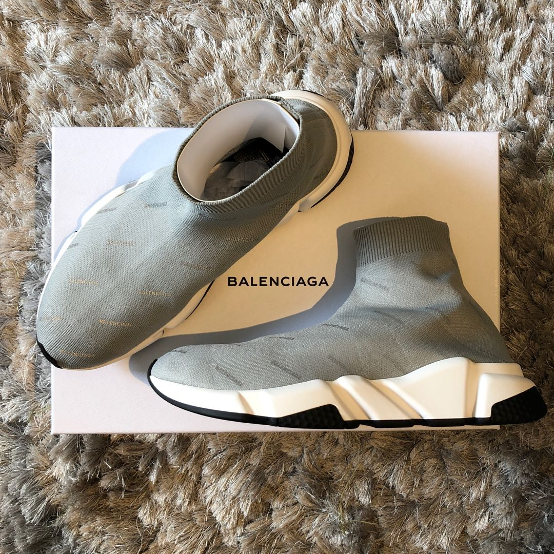ca19c66078d Balenciaga Speed Trainers Grey Size 41, Men's Fashion, Footwear, Sneakers  on Carousell