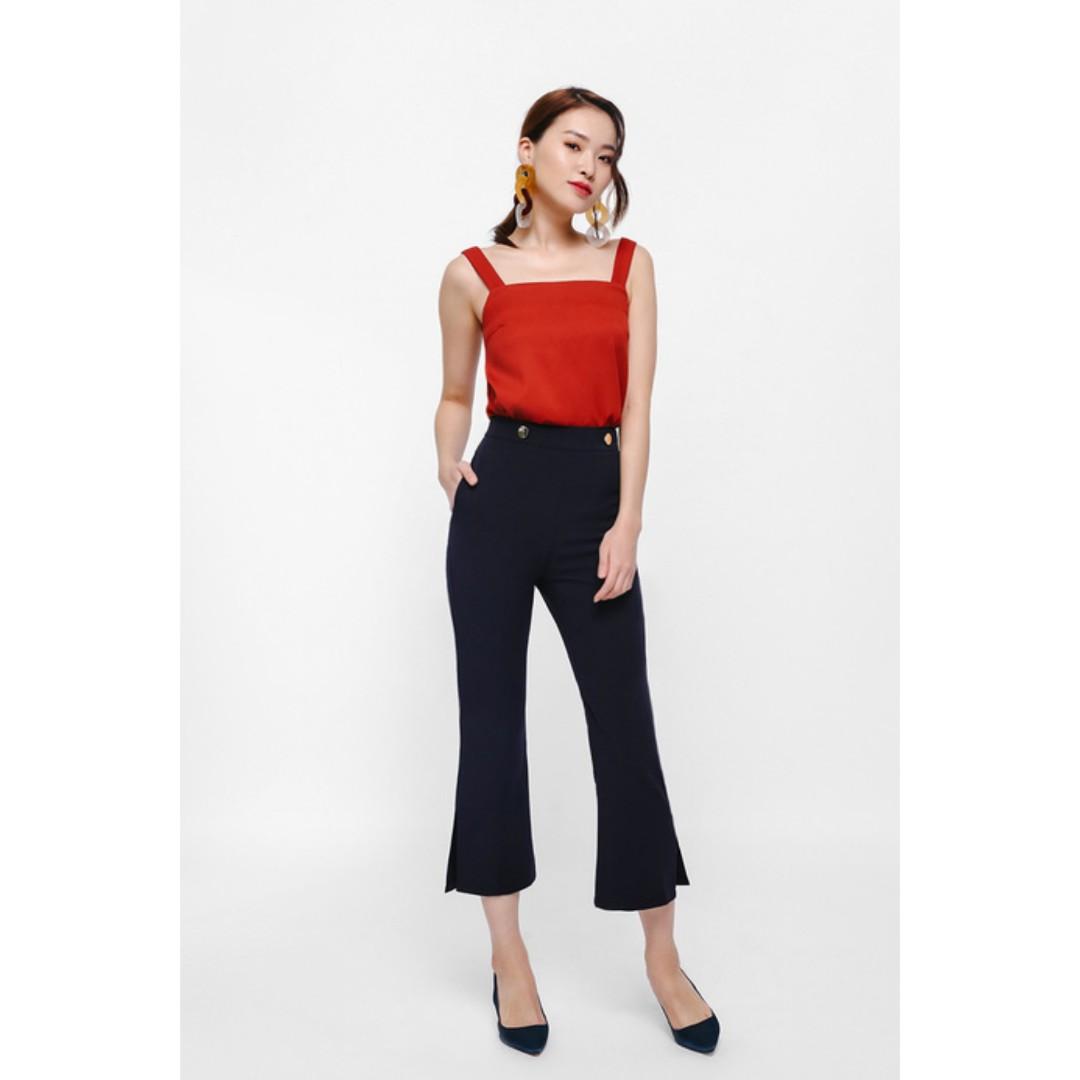 1cfbea377e BNWT Love Bonito Quisa Cropped Flare Pants, Women's Fashion, Clothes ...