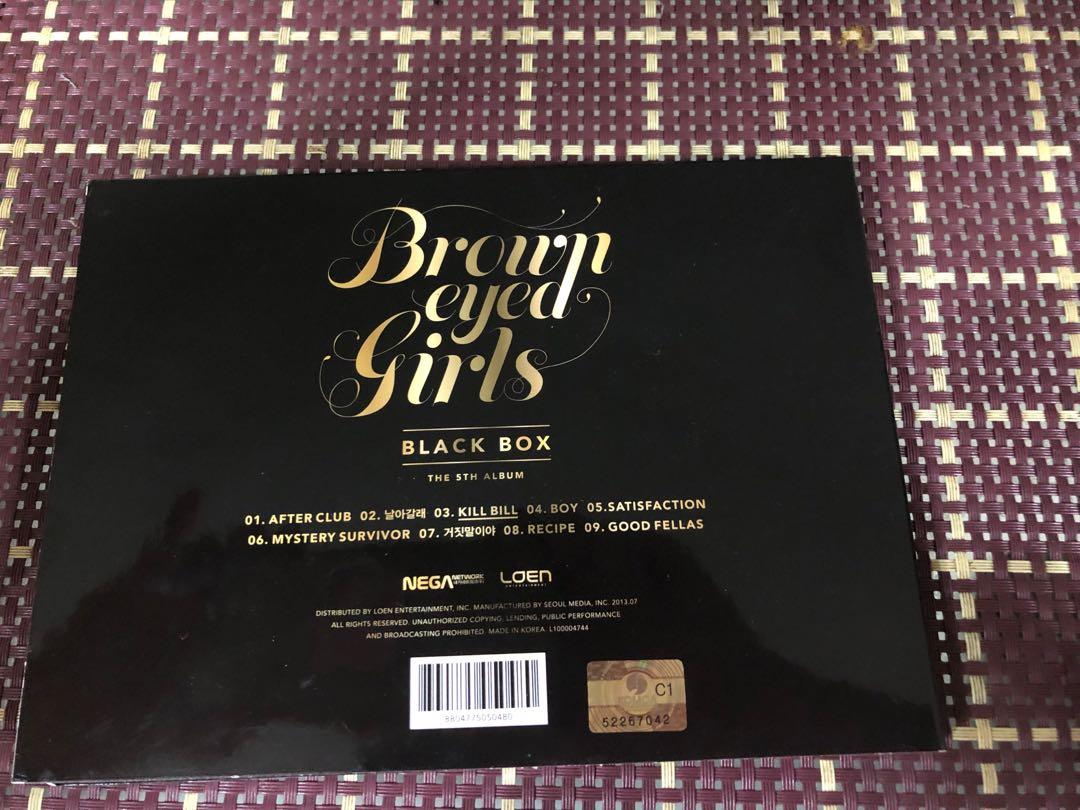 Brown Eyed Girls Signed Black Box Album