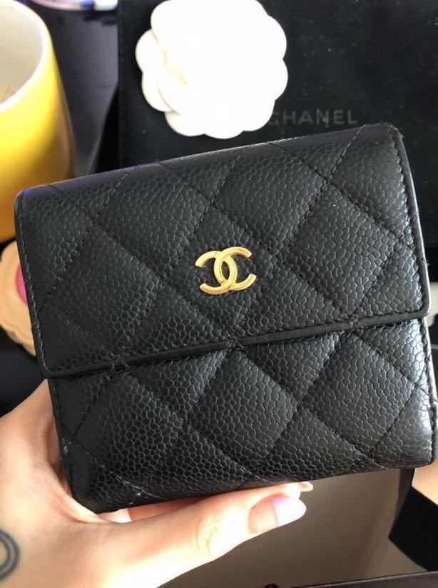 60c63c5919ec Chanel Compact Double Wallet in Caviar Leather, Women's Fashion ...