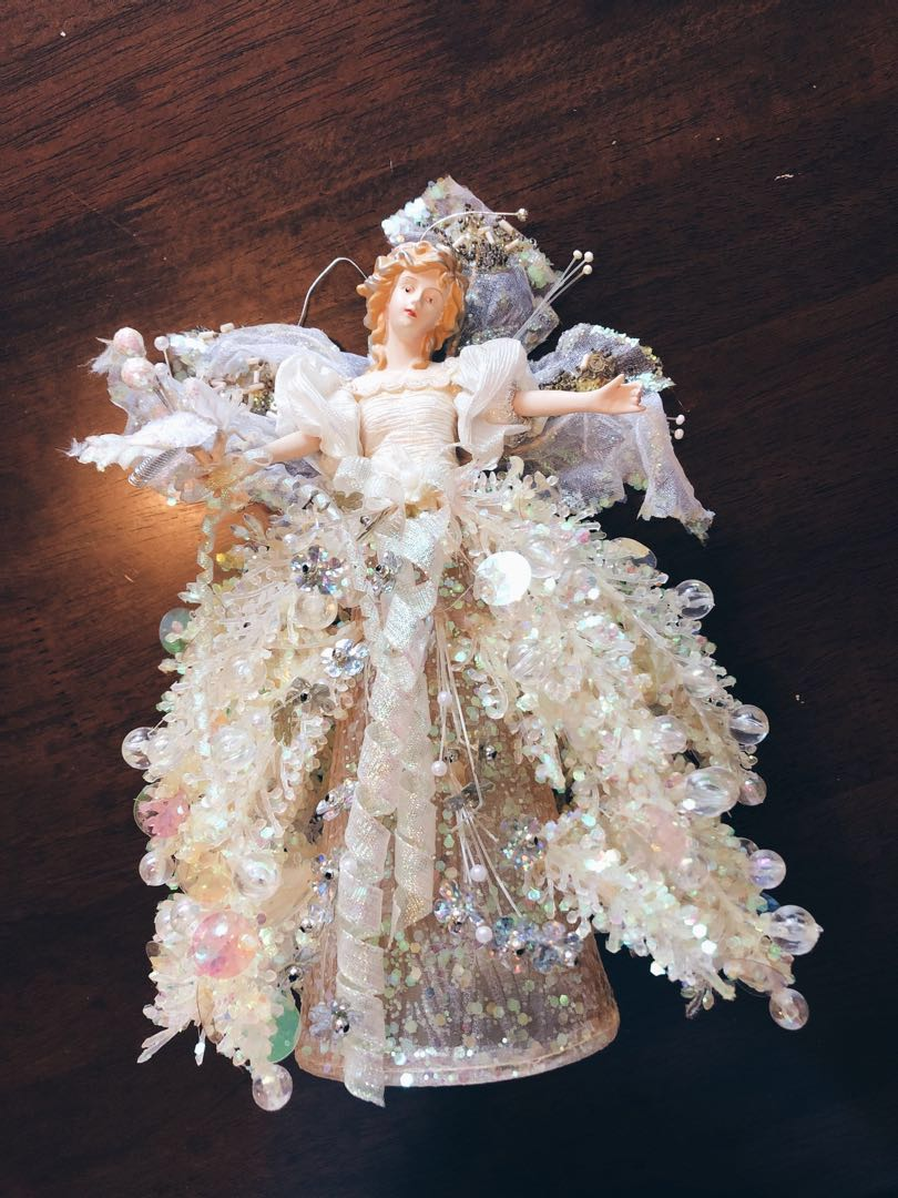 Christmas Tree Angel Topper Furniture Home Decor Others On Carousell