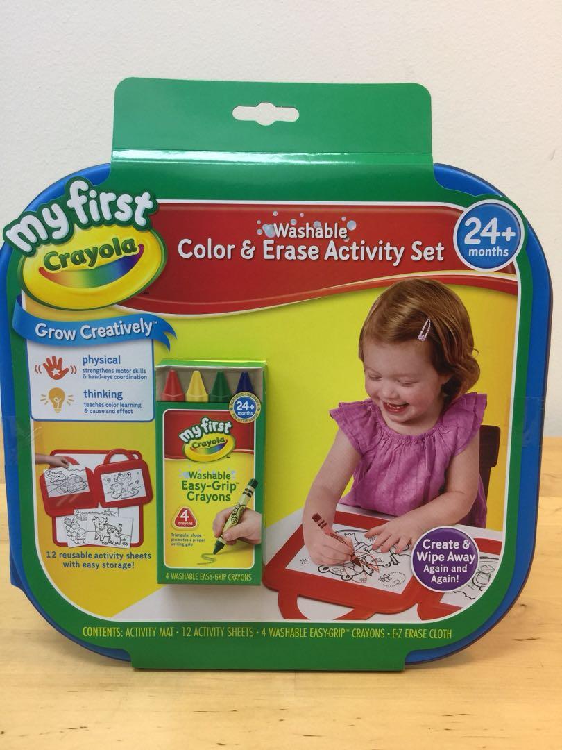 Crayola colour and erase activity set, Books & Stationery ...