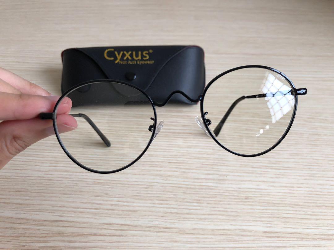 7e92838e2220 Cyxus Metal Retro Plain Glass Spectacles Trendy Korean Style Men Women  Eyeglasses