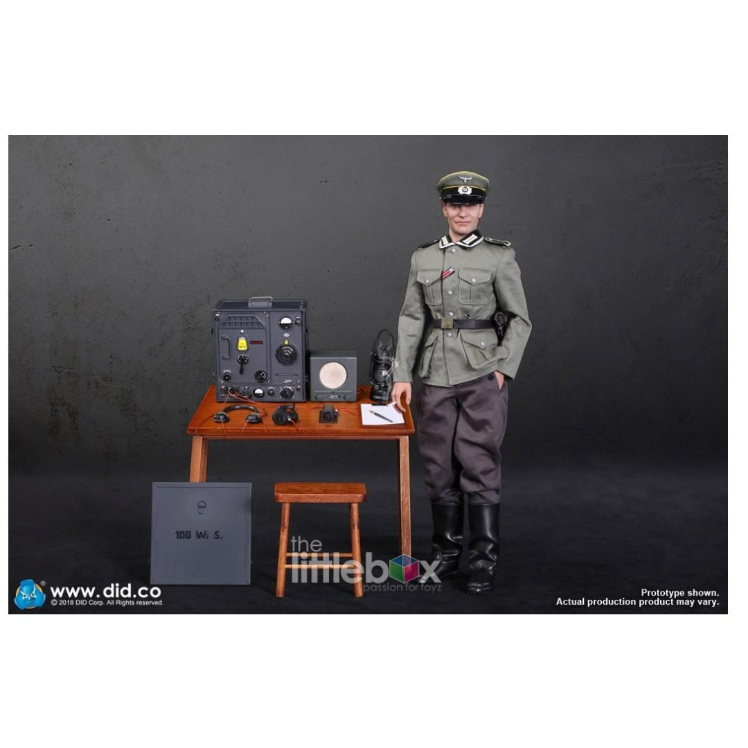 DID D80133 1//6 WWII German Communication 3 WH Radio Operator Gerd Figure Uniform
