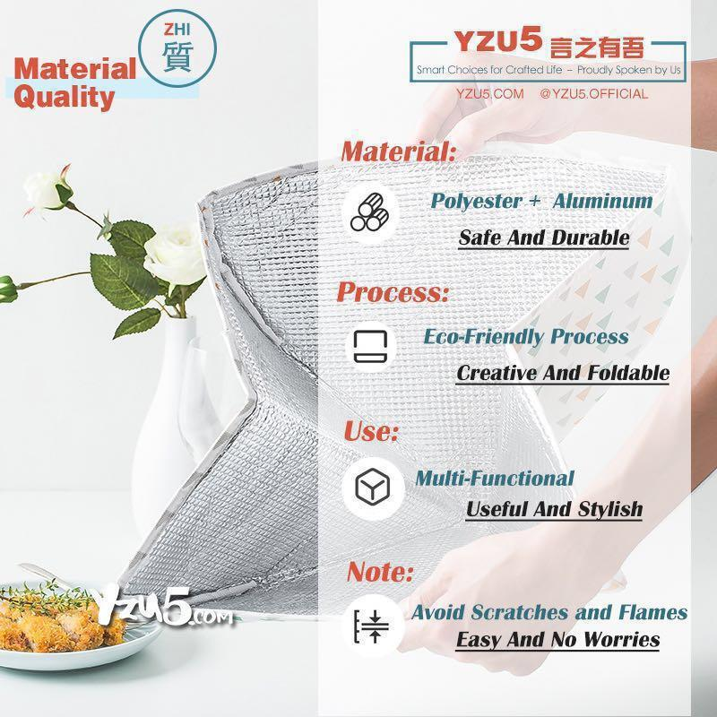 Foldable Insulated Thermal Cover Food Insulation Shield Proof #under9