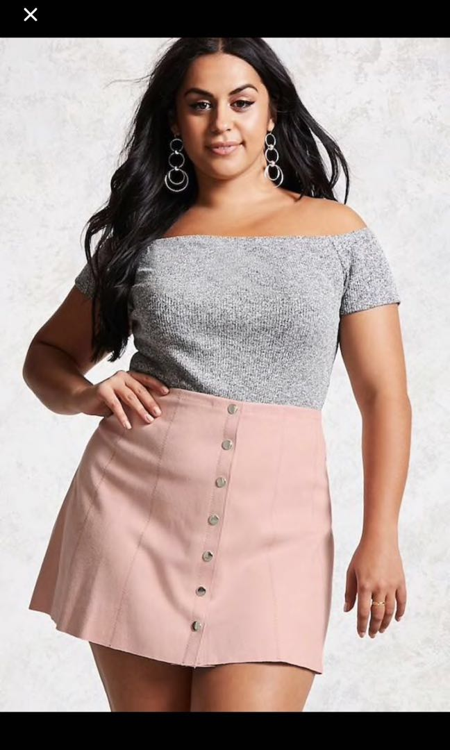 c3fcd2aad FOREVER 21 PLUS SIZE SUEDE SKIRT, Women's Fashion, Clothes, Dresses ...