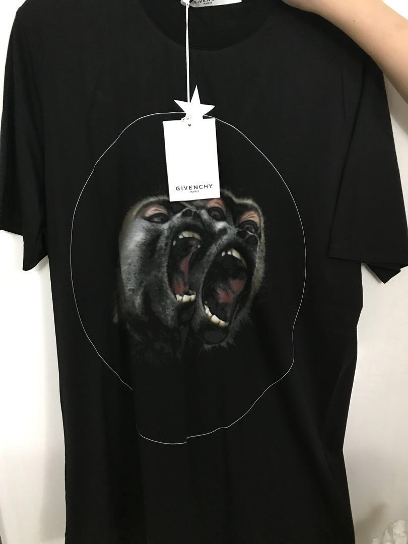 dde0cd05 Givenchy T shirt monkey brothers, Luxury, Apparel, Men's on Carousell