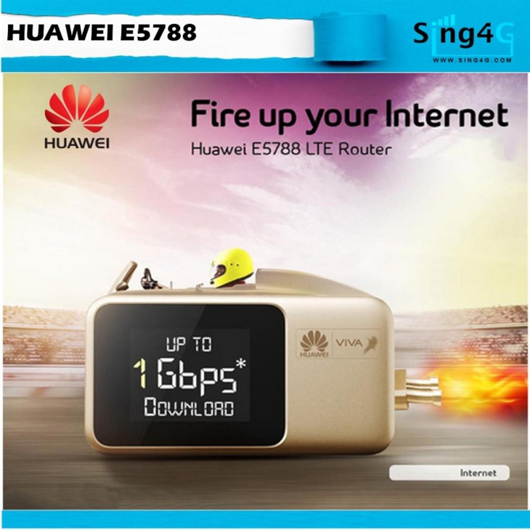 HUAWEI E5788u-96a (4G 1Gbps 32WIFI Share Max 12hr)