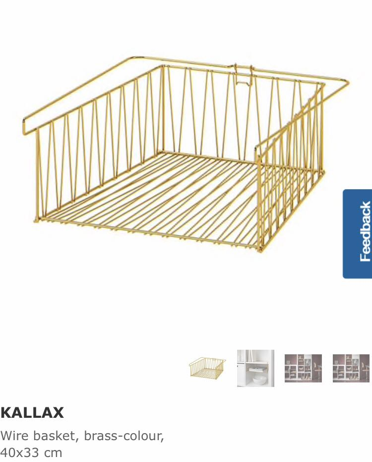 cheap for discount aec6b 1848e IKEA Kallax Wire Basket, Furniture, Shelves & Drawers on ...