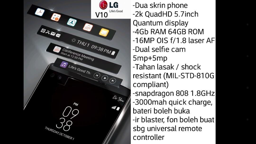 LG V10 DualScreen QuadHD_2k 4/64GB ShockResistant