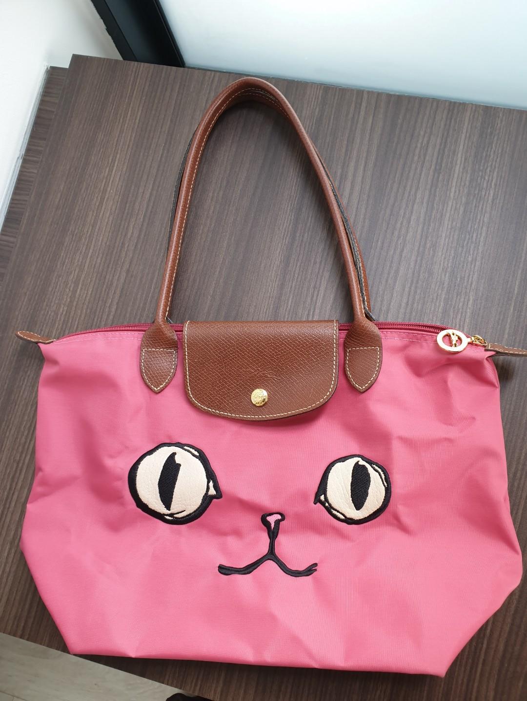 44848464b4cc Longchamp Le Pliage Miaou Cat Tote Bag (pre-loved)