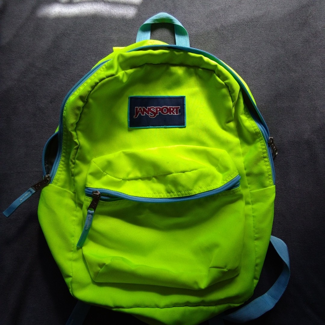 Neon Authentic Jansport Backpack f1d937be1f592