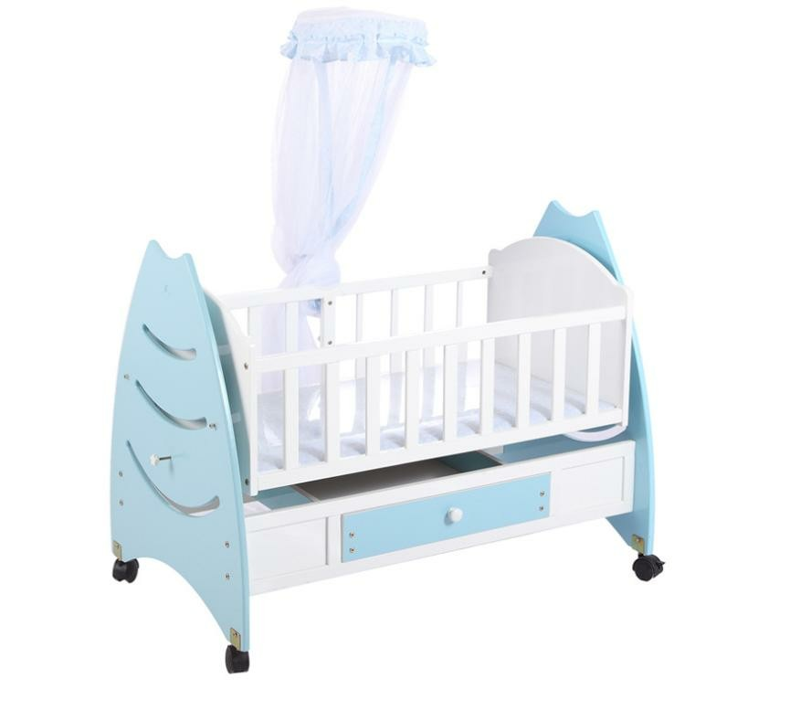 45c371c034c7 New crib solid wood BB bed multi-function baby cradle bed crib ...
