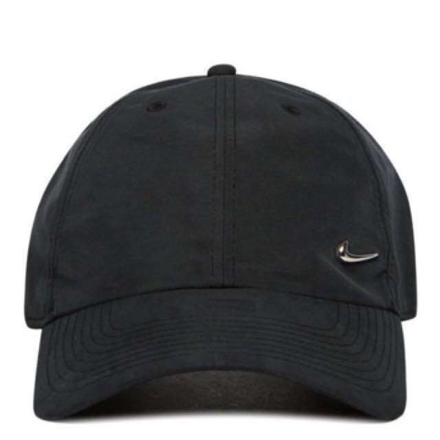 Nike Metal Swoosh Black Cap e78b1bd2a98e