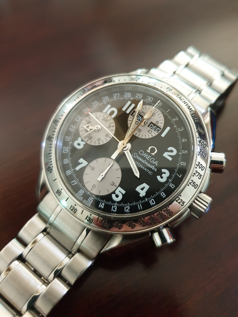 931967618 Omega Speedmaster Triple Date Chronograph 3523.51 reverse panda, Luxury,  Watches on Carousell