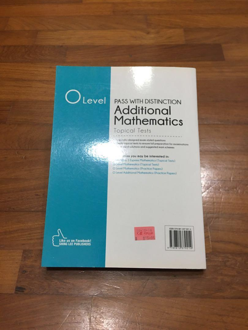 Pass with Distinction 'O' Level A. Math Topical Tests Assessment Book