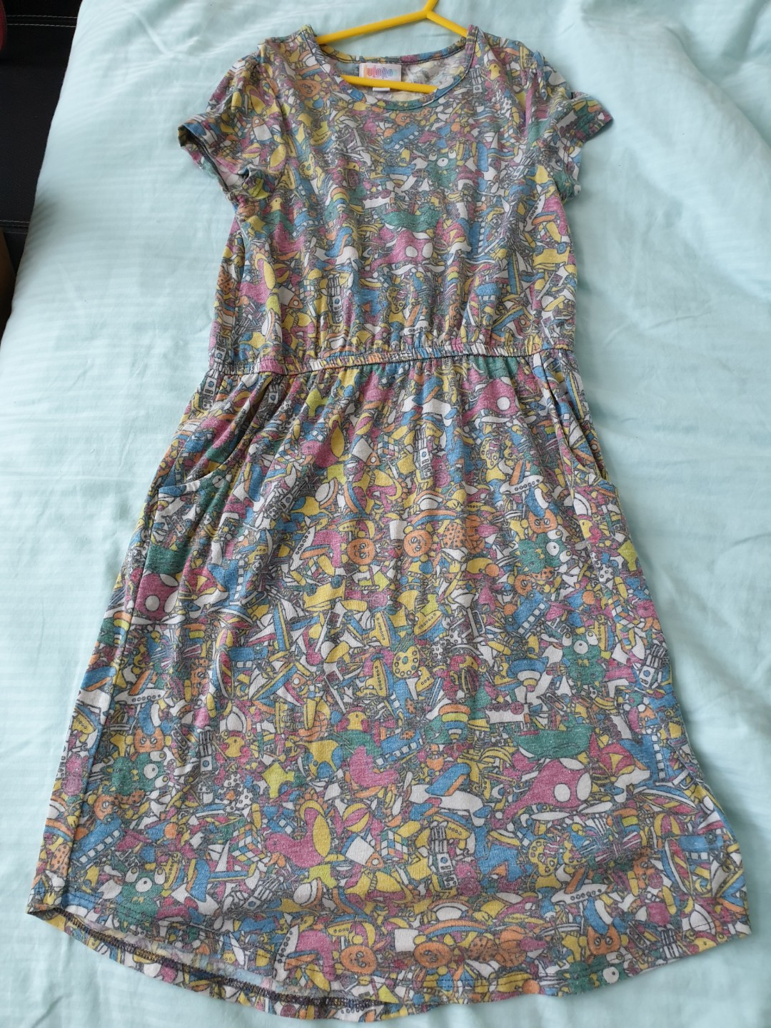 1e0dd8ce742 Preloved Lularoe LLR Girls Mae Dress Sz 12 (rare design - toys ...