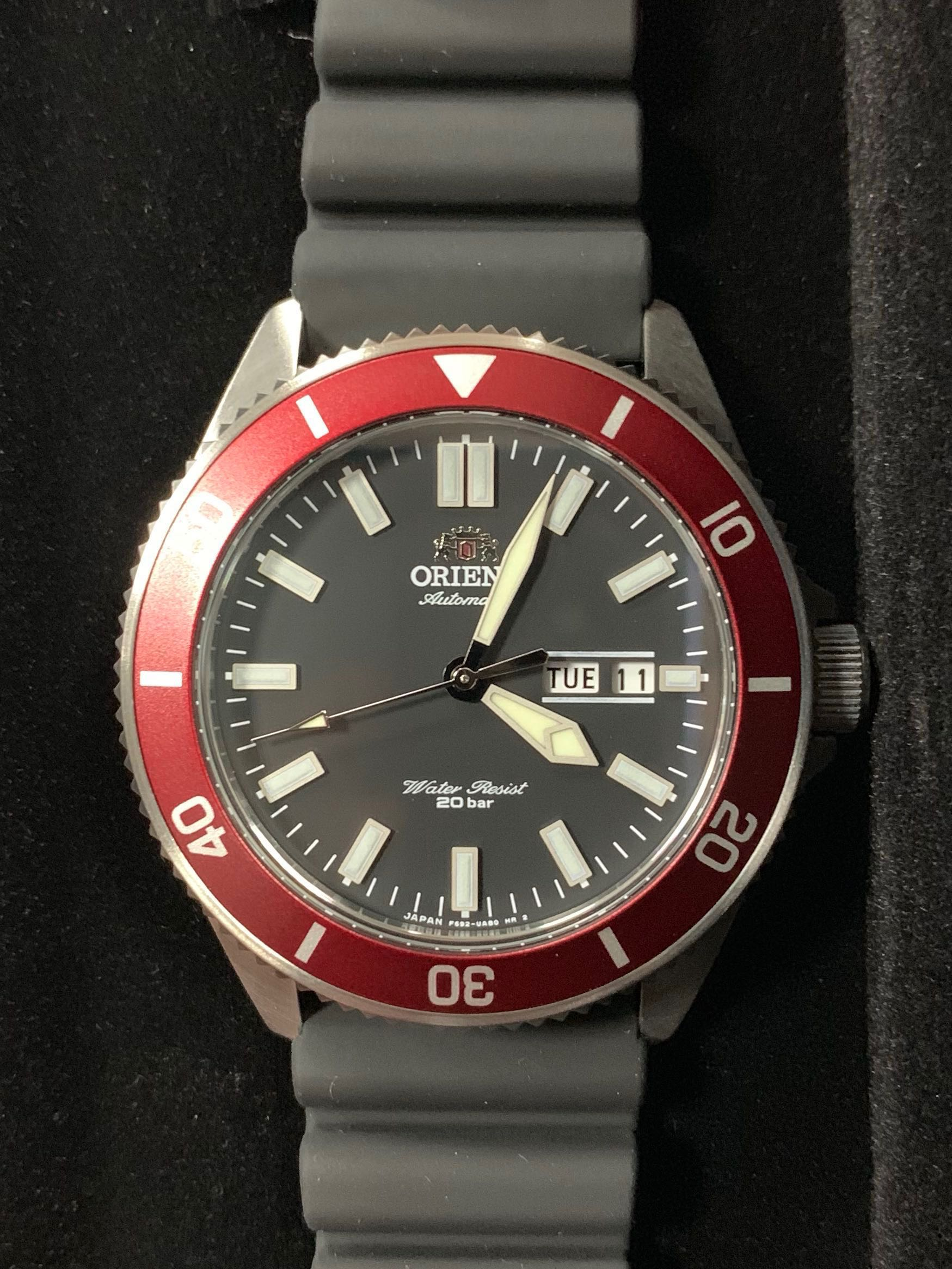 """Priced to clear‼️Orient Ray 2 Red Bezel """"Made in Japan"""" Automatic"""