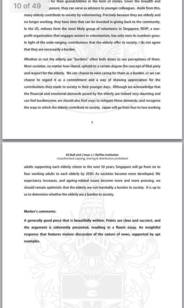 Raffles Institution GP Model Essays, Books & Stationery