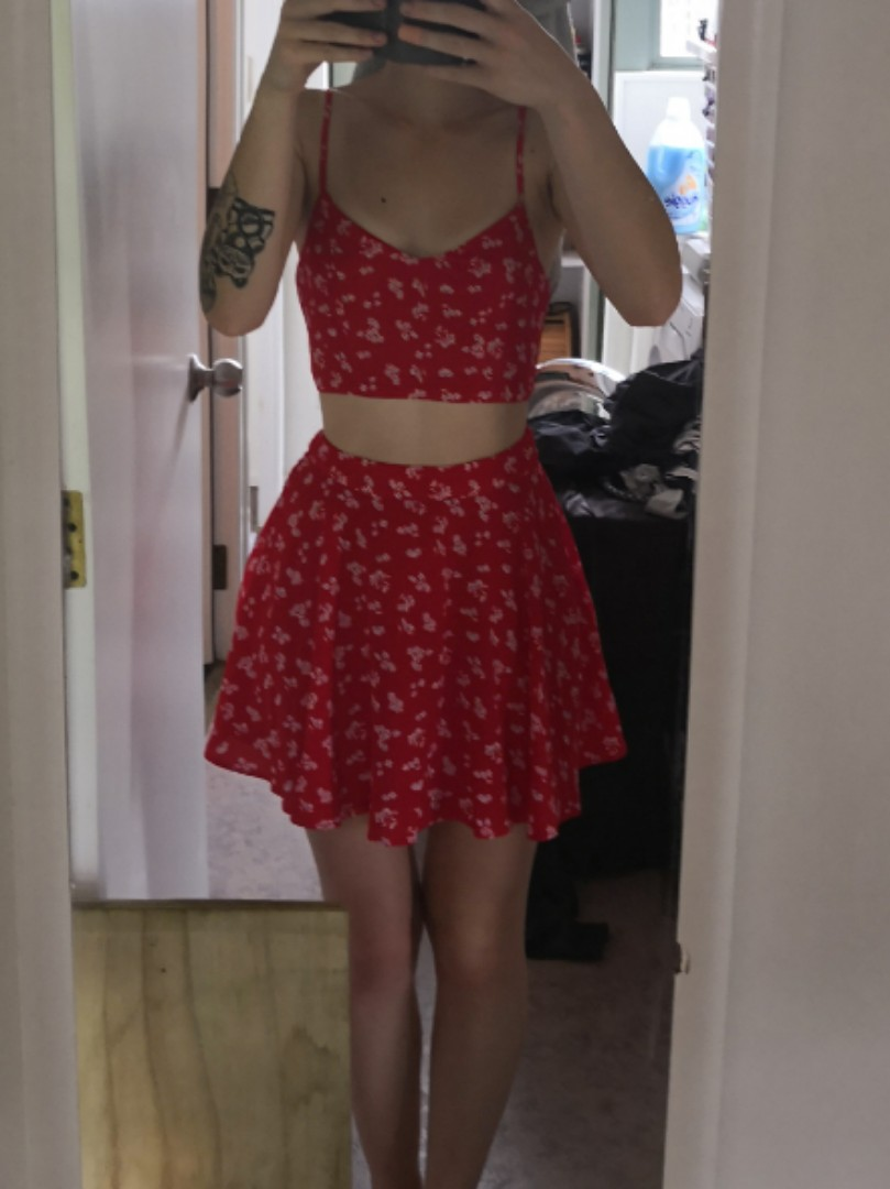 Red Two Piece 8