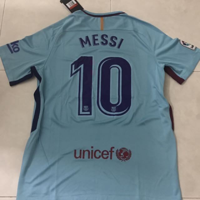 ab0e9d927aa Season 17 18 Barcelona Away Jersey L Size Messi 10