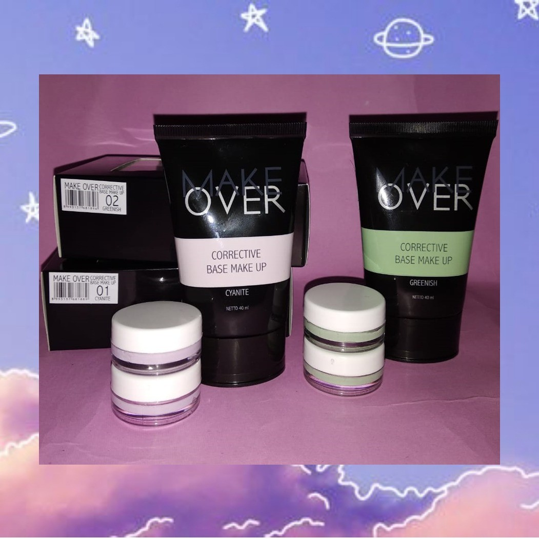 [Share in Jar] MakeOver Corrective Base MakeUp - Cyanite & Greenish, Health & Beauty, Makeup on Carousell