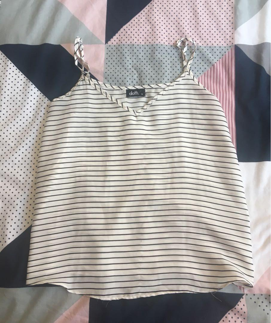 Striped singlet top