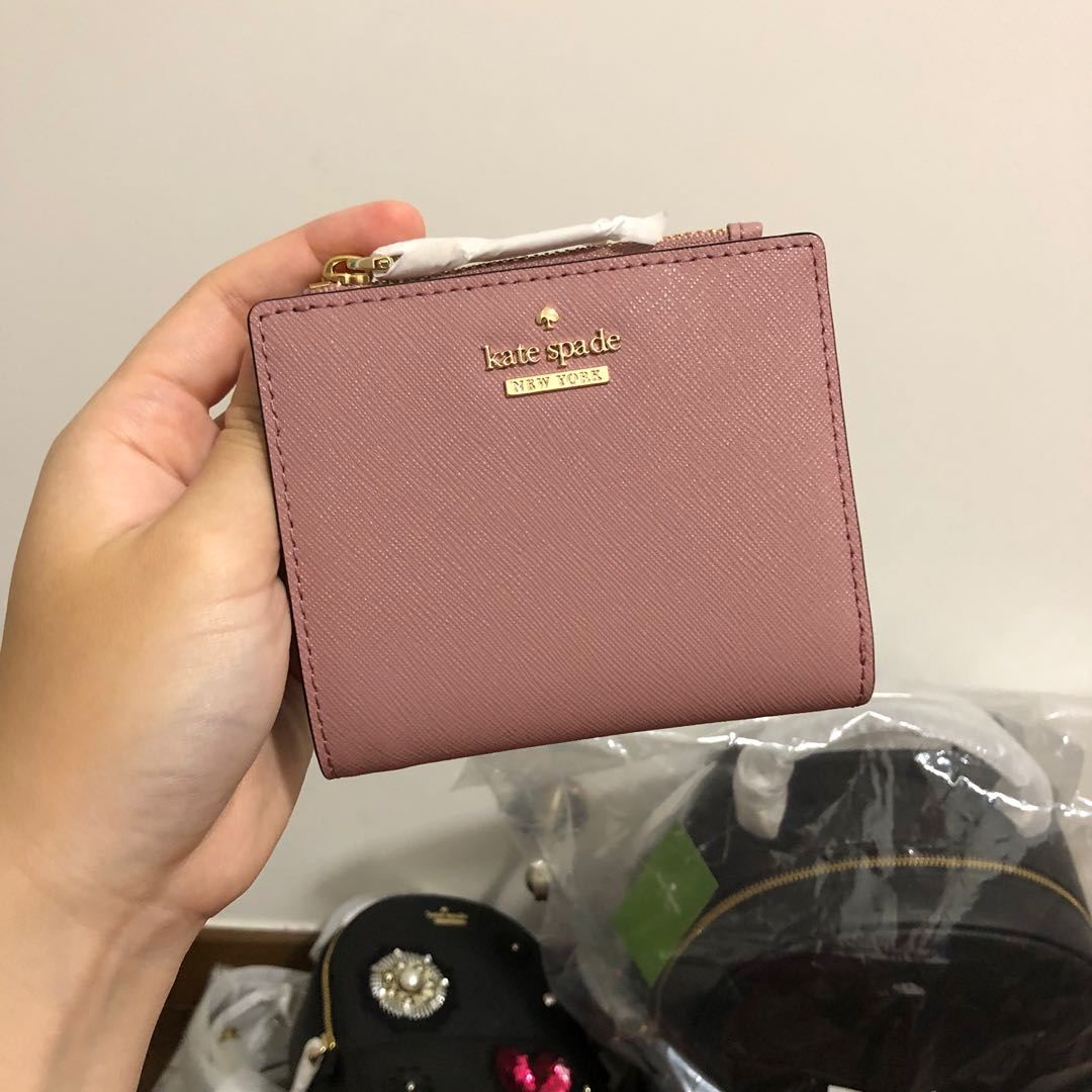 b1902b5ac SUPER RARE INSTOCK Kate Spade Cameron Street Adalyn Small Bifold Wallet  Dusty Peony Dusty Rose Pink, Women's Fashion, Bags & Wallets, Wallets on  Carousell