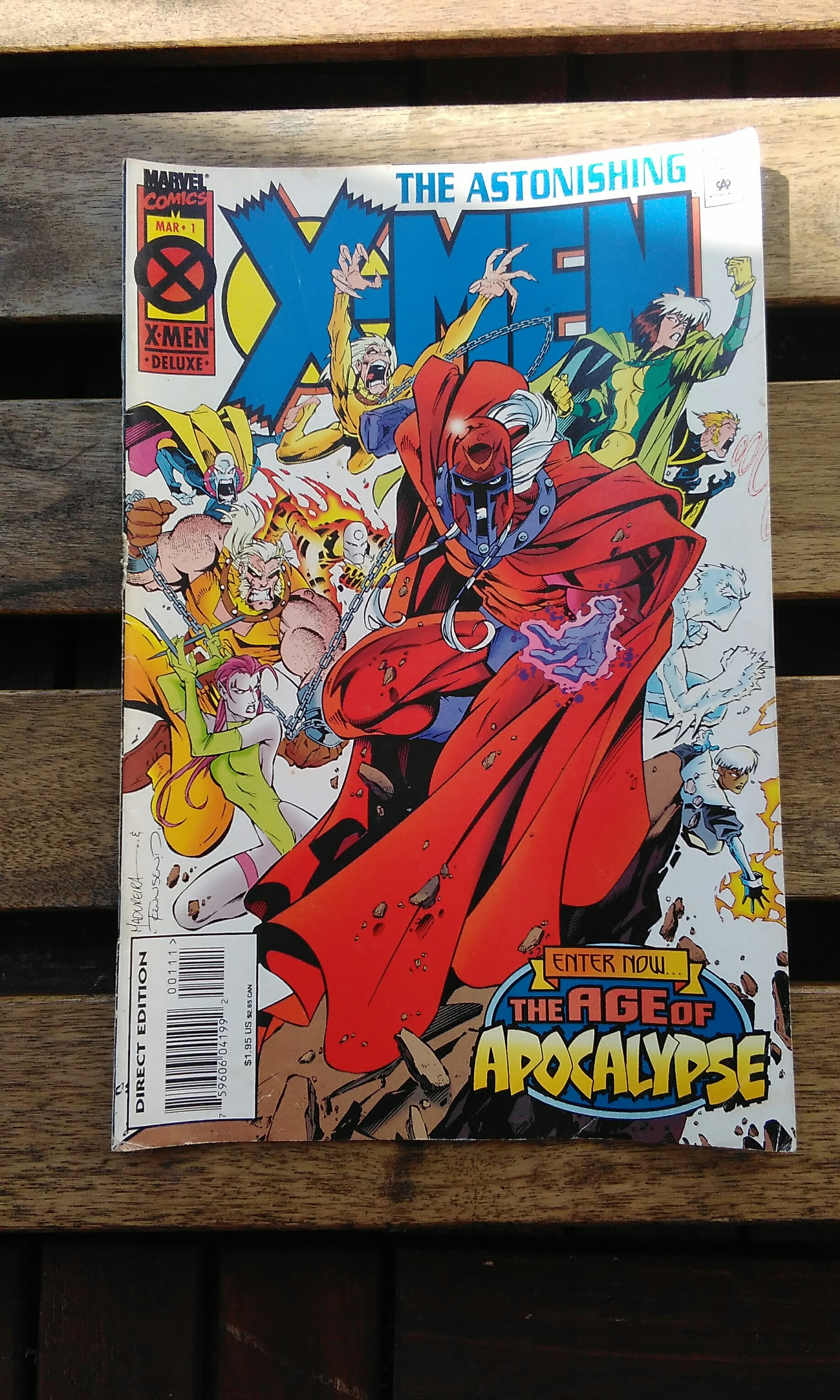 Uncanny X-Men #210 VF  Mutant Massacre 1st Marauders cameo Wolverine Storm