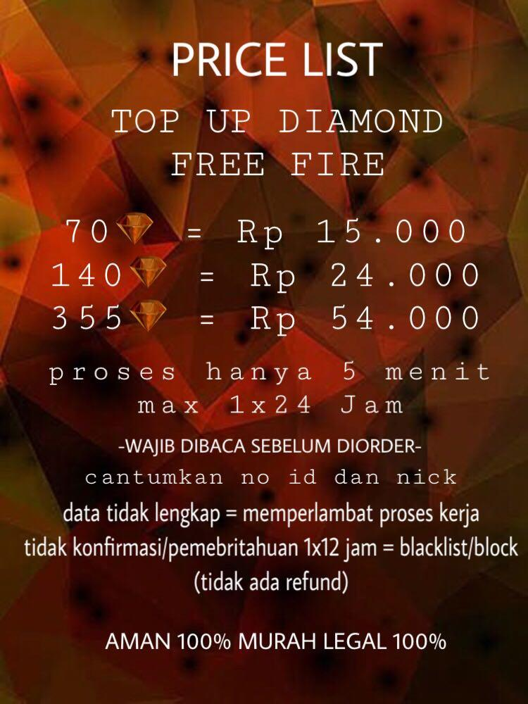 Top Up Diamond Free Fireff Toys Collectibles Others
