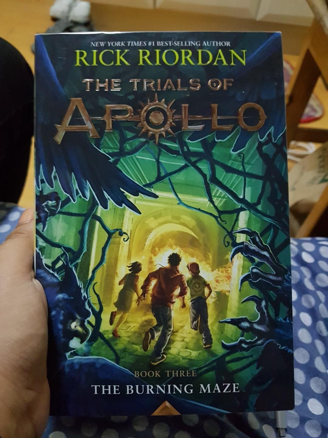 TRIALS OF APOLLO BY RICK RIORDAN BOOK 3 THE BURNING MAZE