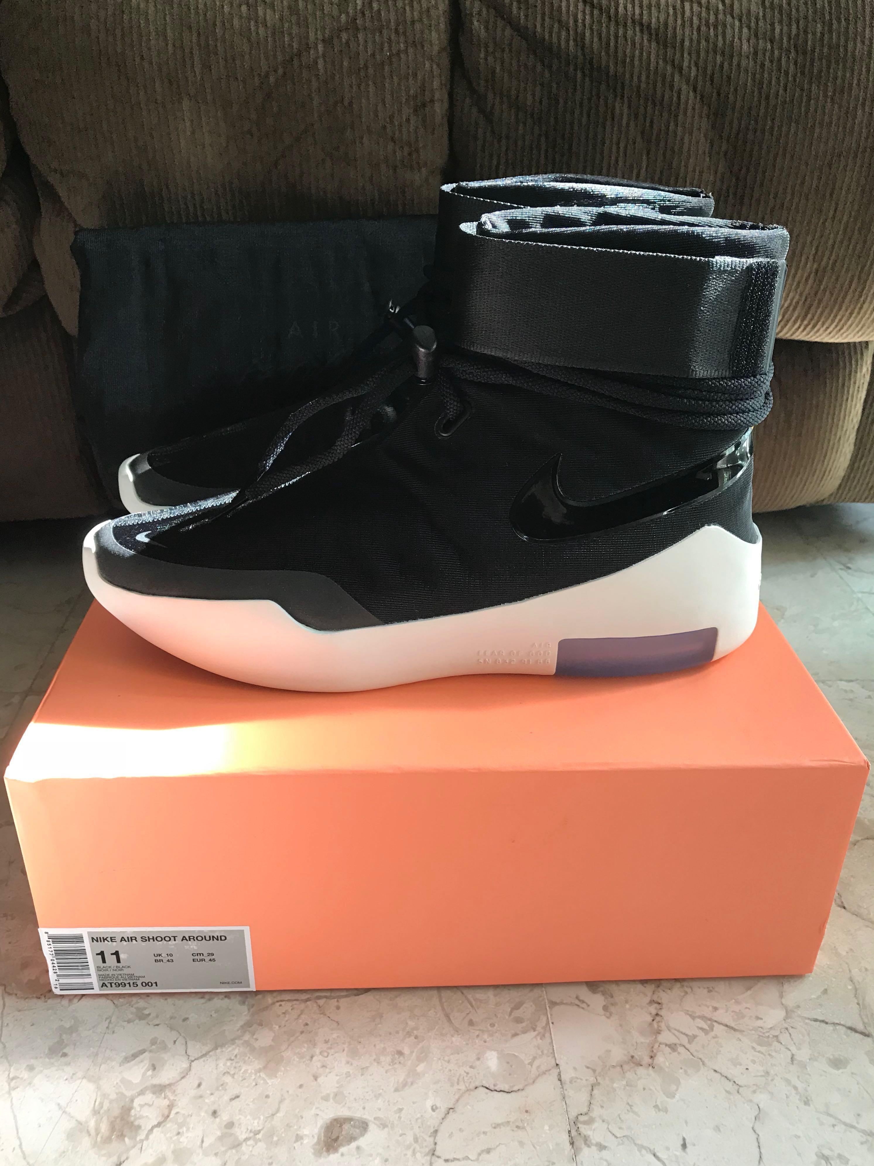 US 11 Nike Air Fear Of God SA Black