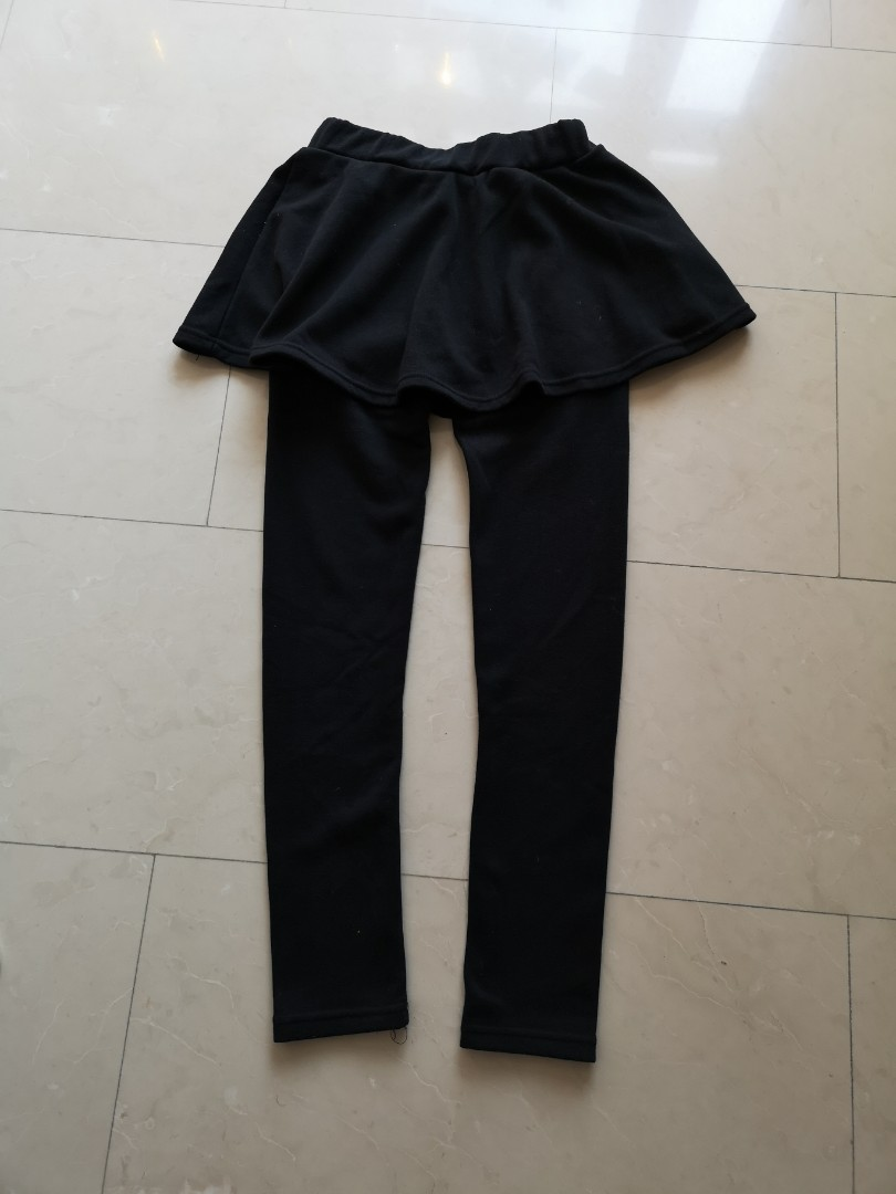 a0abba5ef Warm inner fleece thick pants with skirt, Women's Fashion, Clothes ...