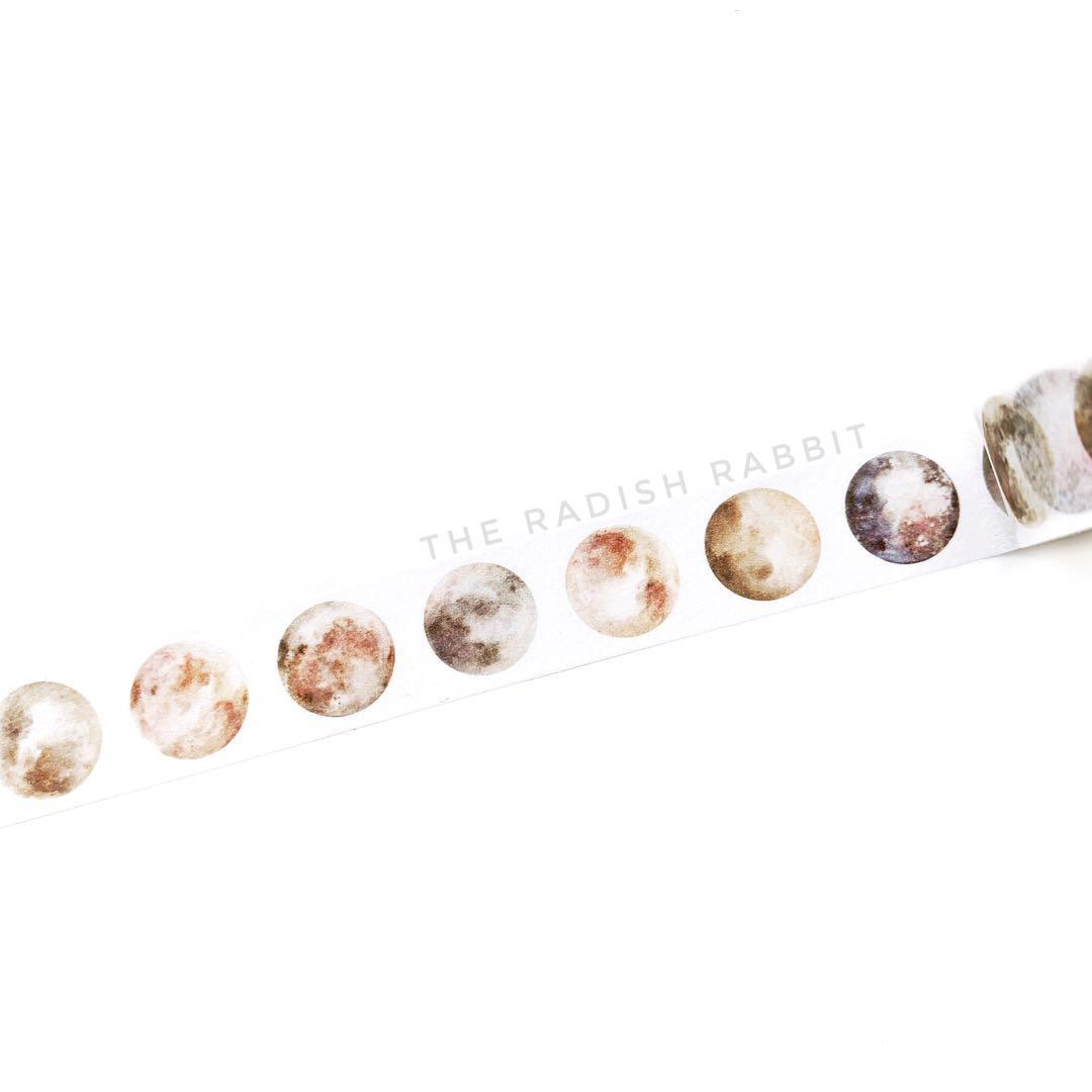 Washi tape roll - MOON SHADES (WHITE)