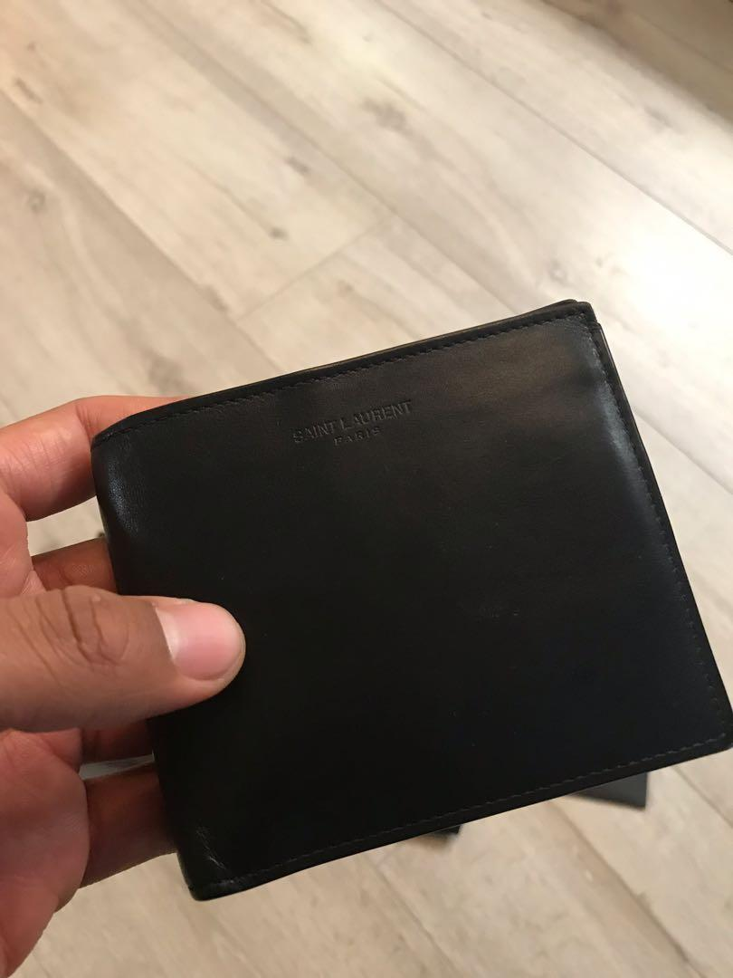 YSL Saint Laurent smooth leather wallet